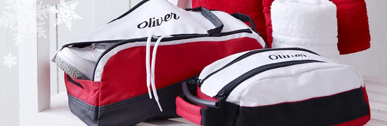 Kulturtaschen und Handtücher