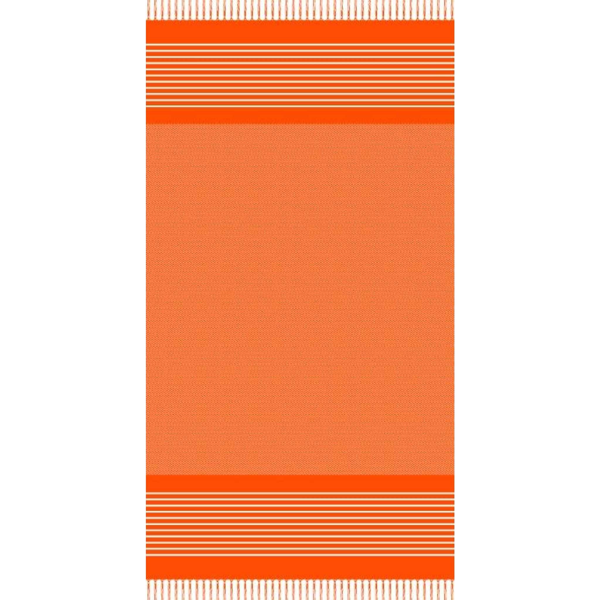 Strandtuch mit Fransen, Orange