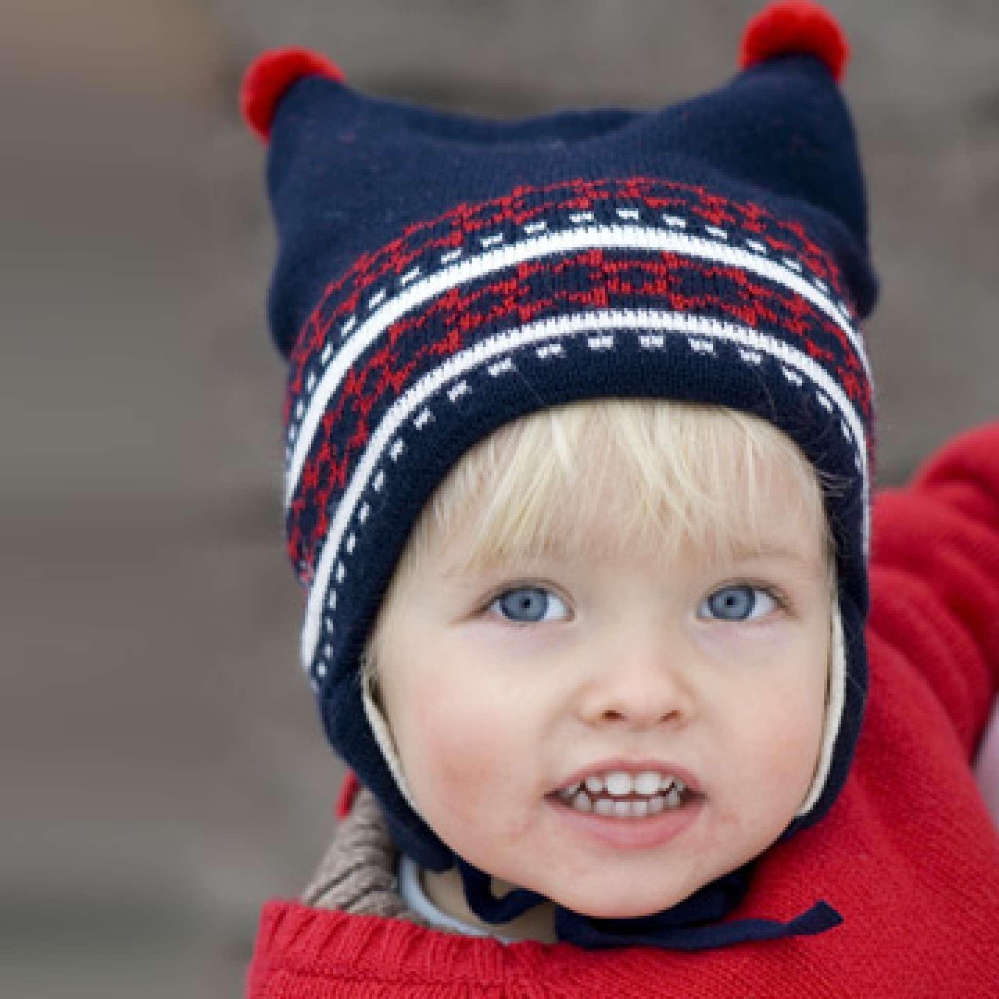 Baby-Harlekin-Mütze