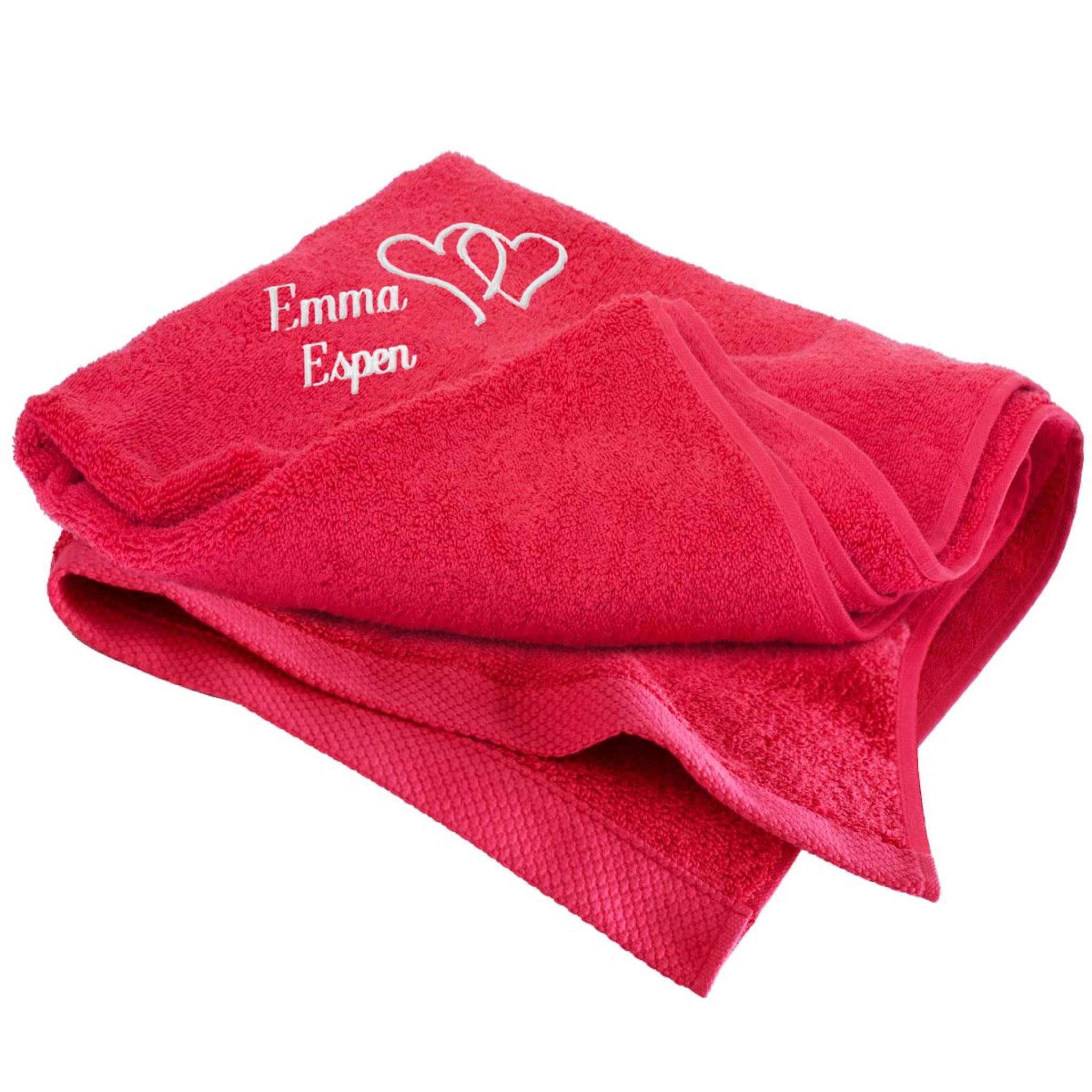 Handtuch mit Herzen