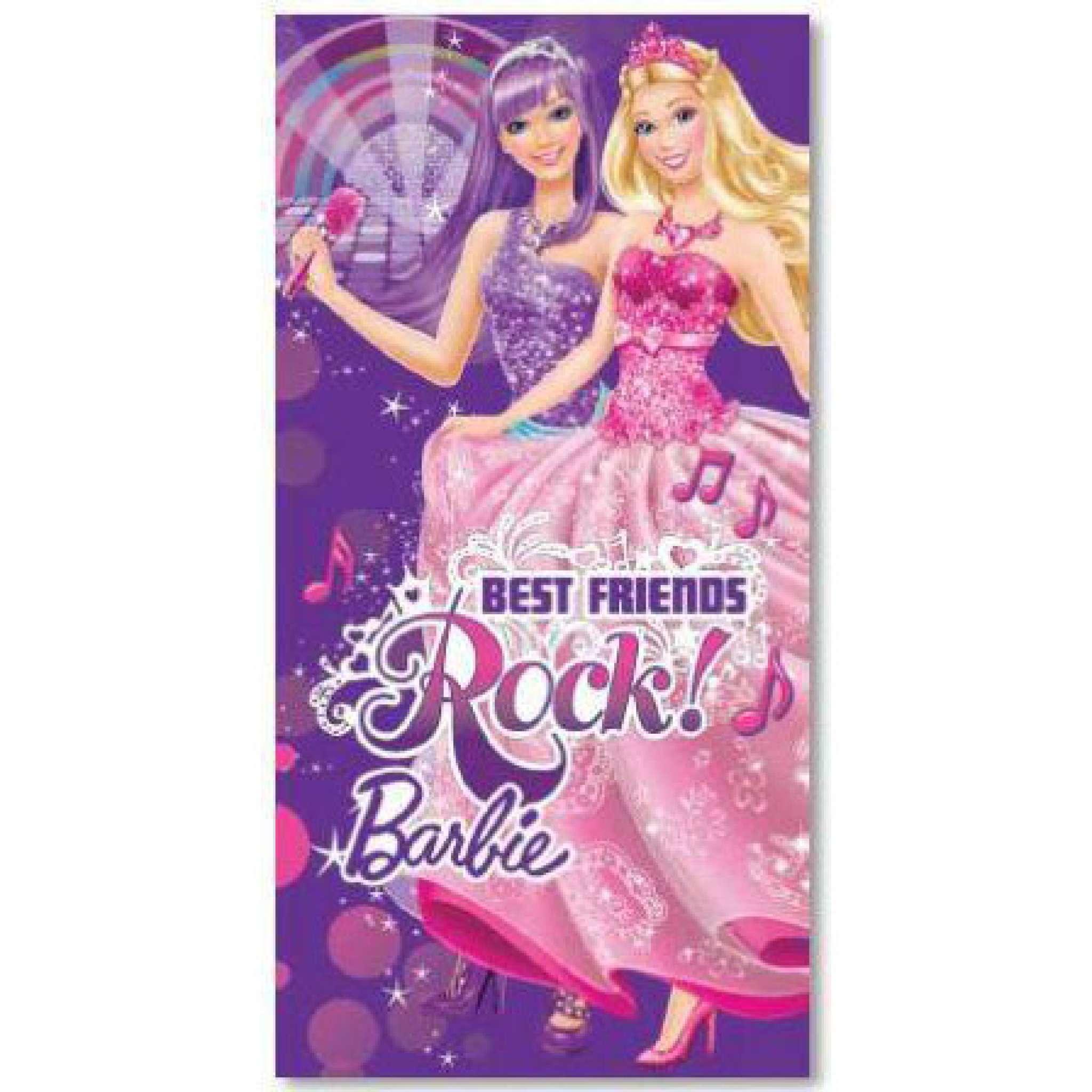 Barbie Rock Badehandtuch