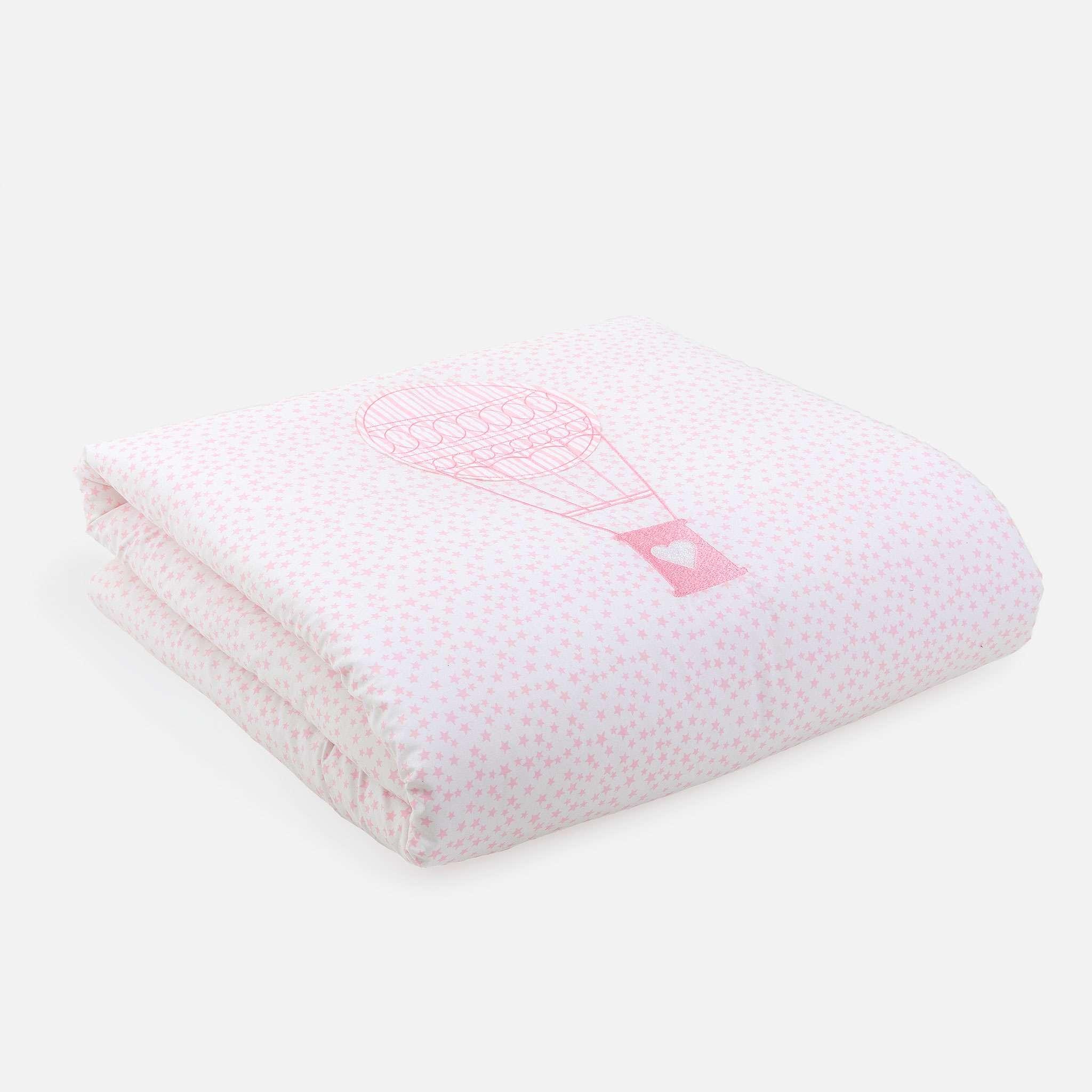 Bettüberwurf, Ballon Pink