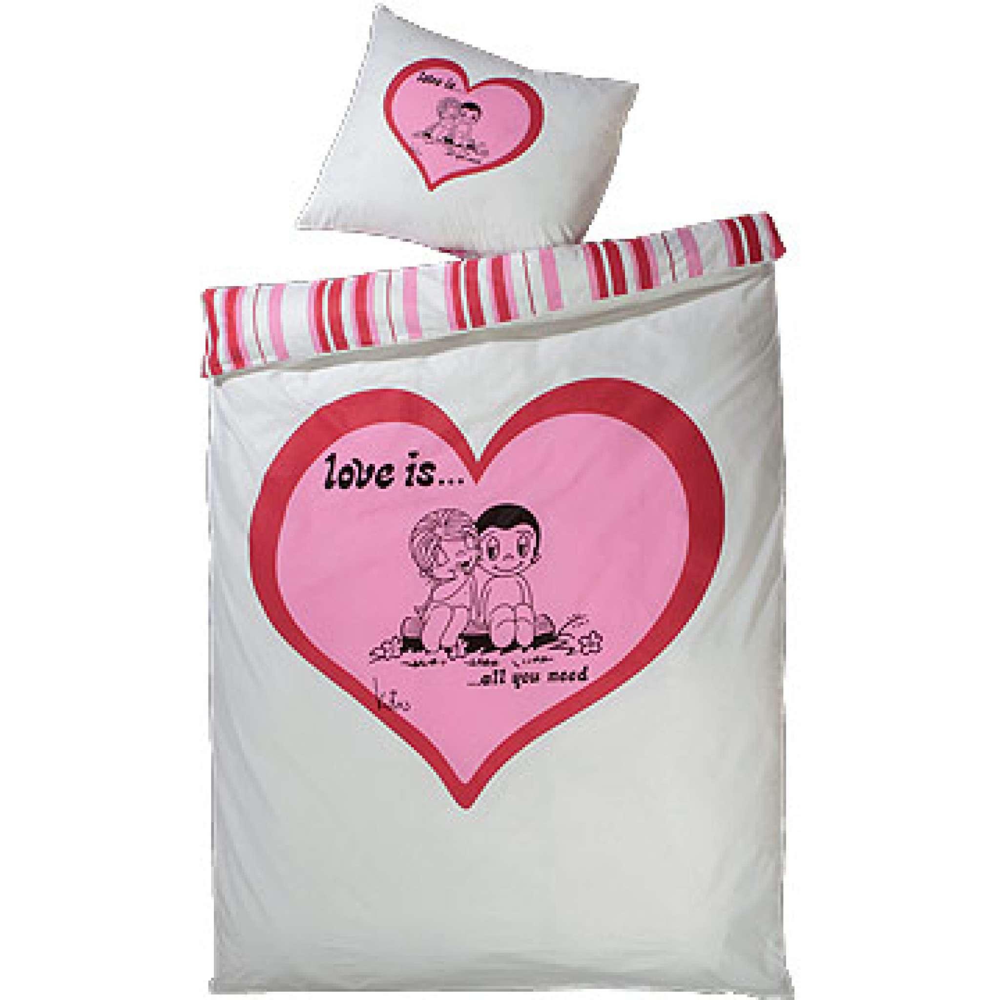 Bettwäsche, Liebe ist 140x200 cm
