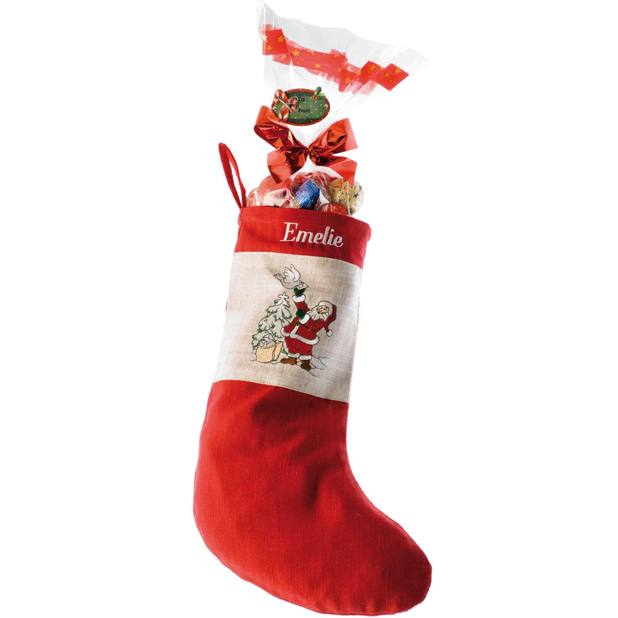 Weihnachtsstrumpf, Rot
