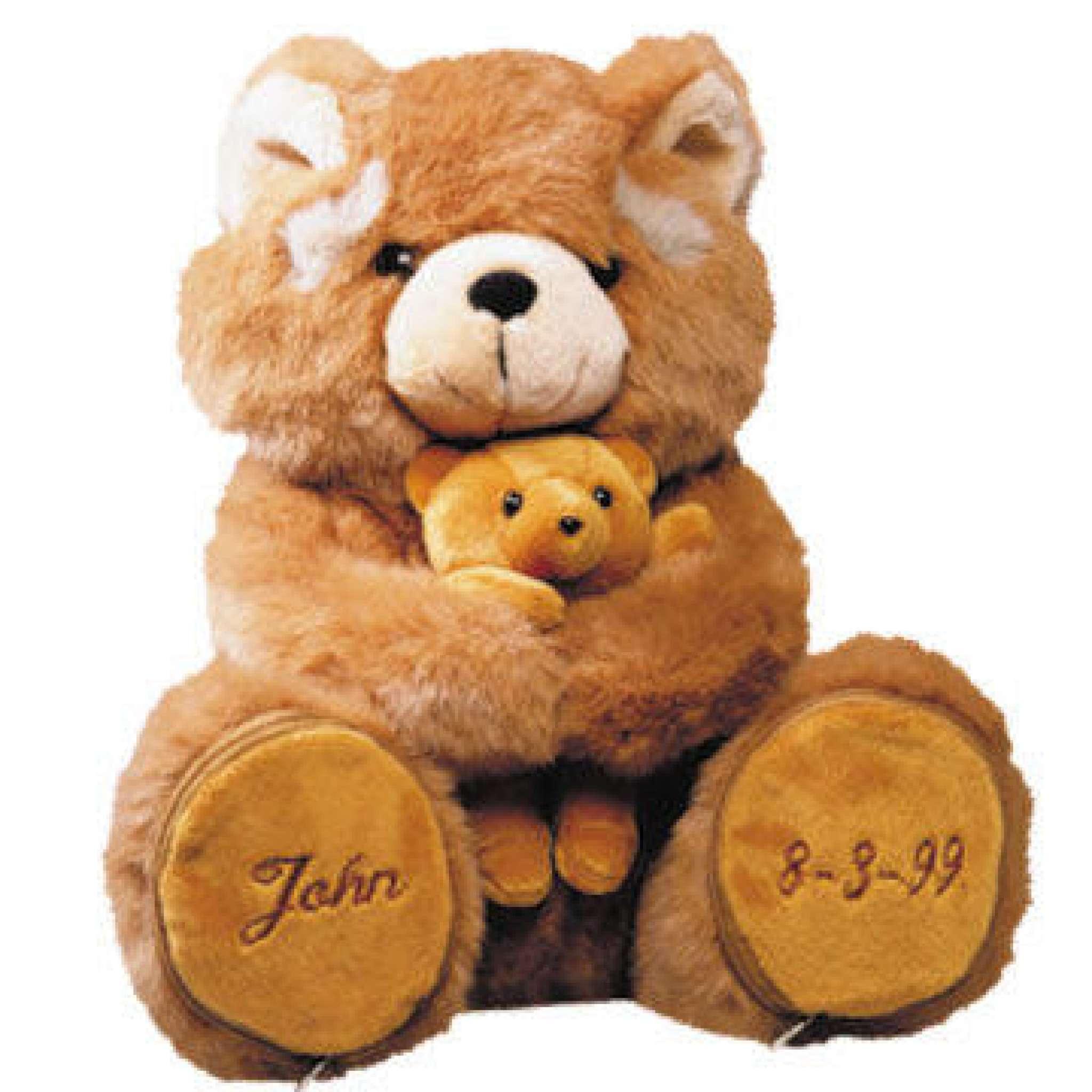 Teddybär mit Baby