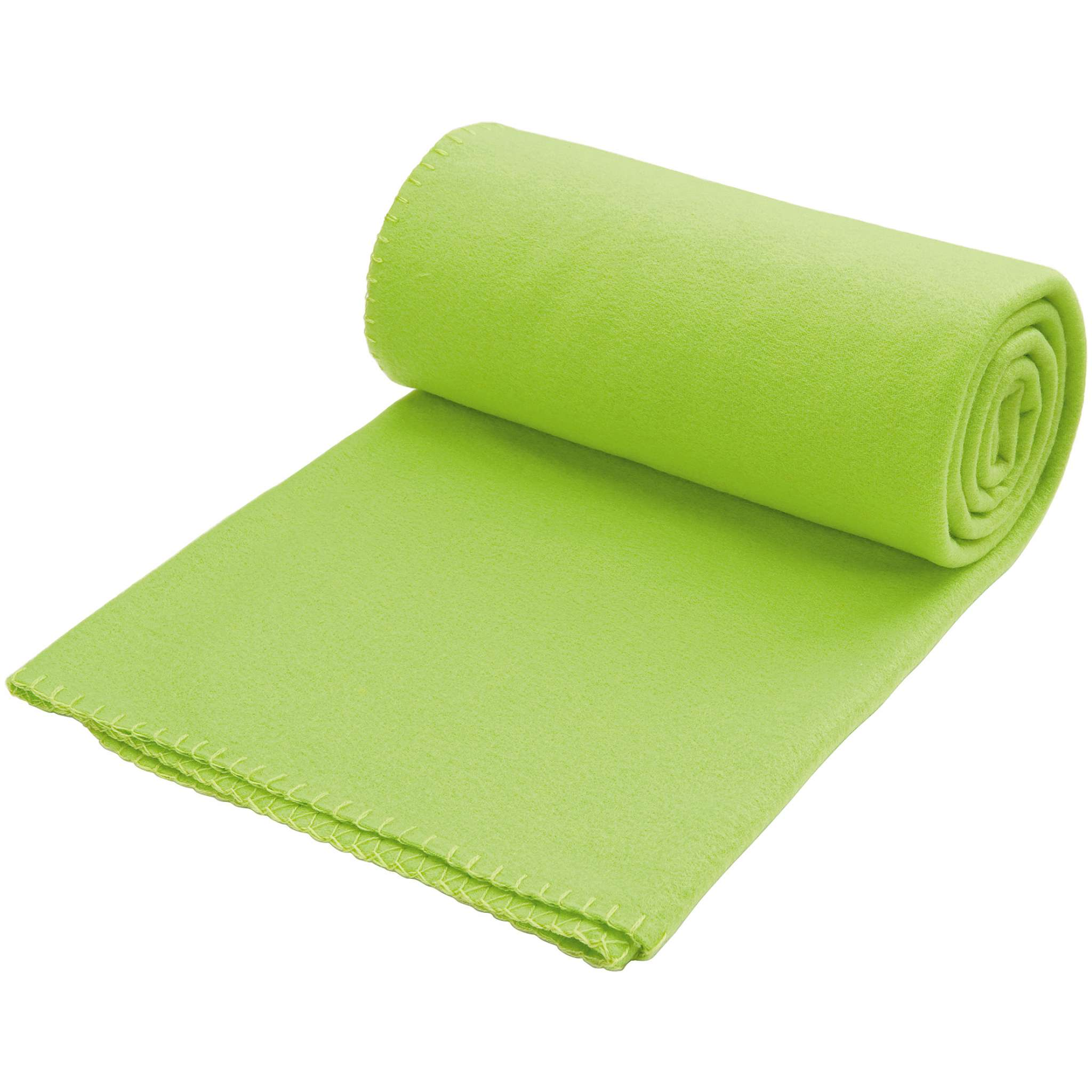 Fleecepledd Solid (150x180 cm)-Limegrønn (#CAD151)