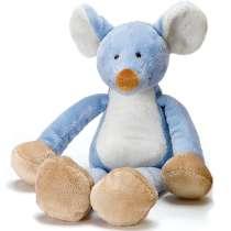 Schmusespieluhr als Maus-Charakter, mit sanft-klingender Baby-Melodie.