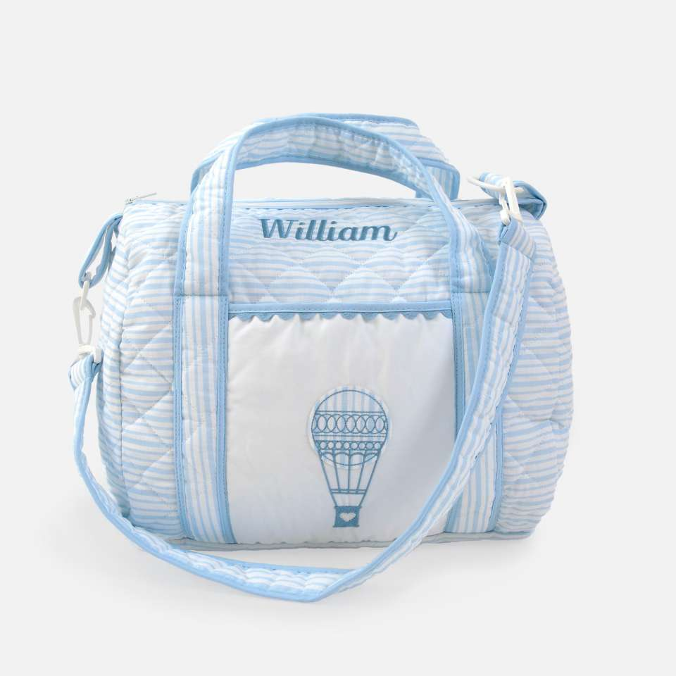Wickeltasche, Ballon Blue