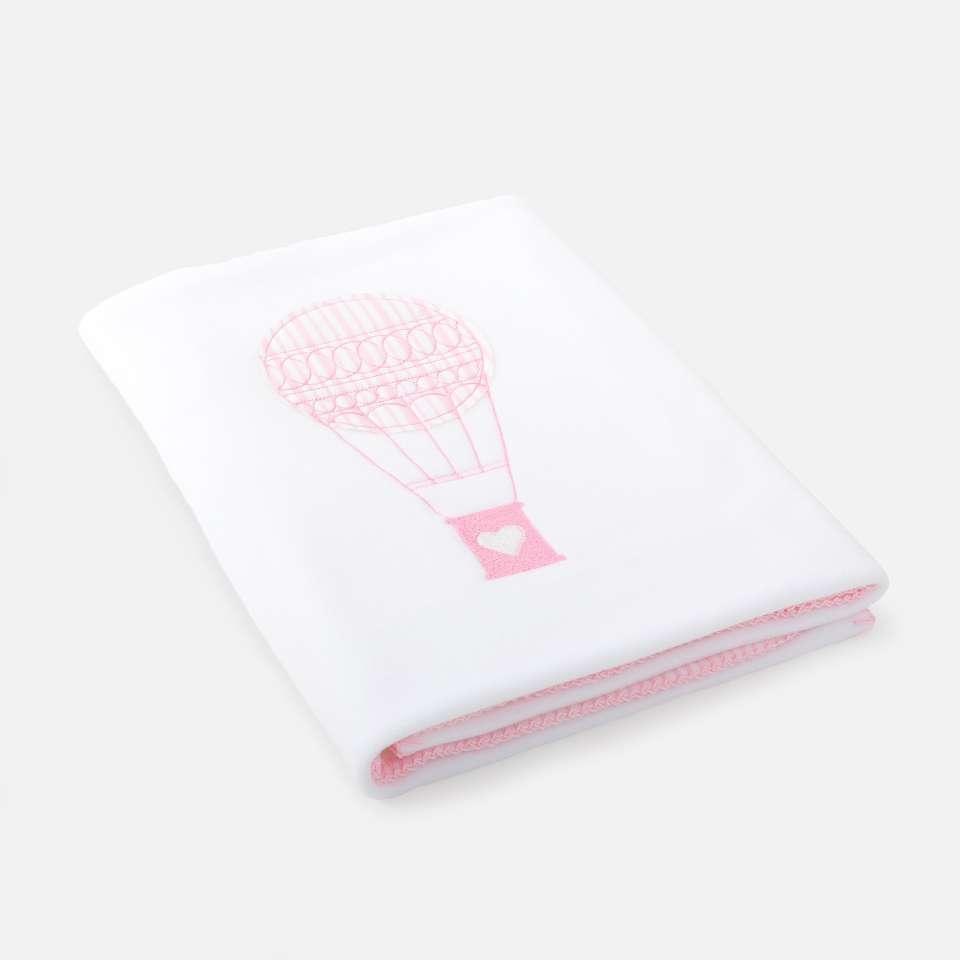 Fleecedecke, Ballon Pink